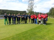 Ryder Cup joukkueet 2014, Länsi sinisissä, Itä punaisissa paidoissa.