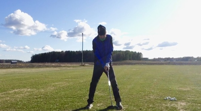 PGA Pro Antti Vaalaksen swingiopissa